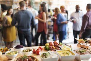 El catering a los eventos de empresas